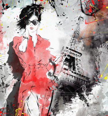Abstract art - Fashion Girl Paris
