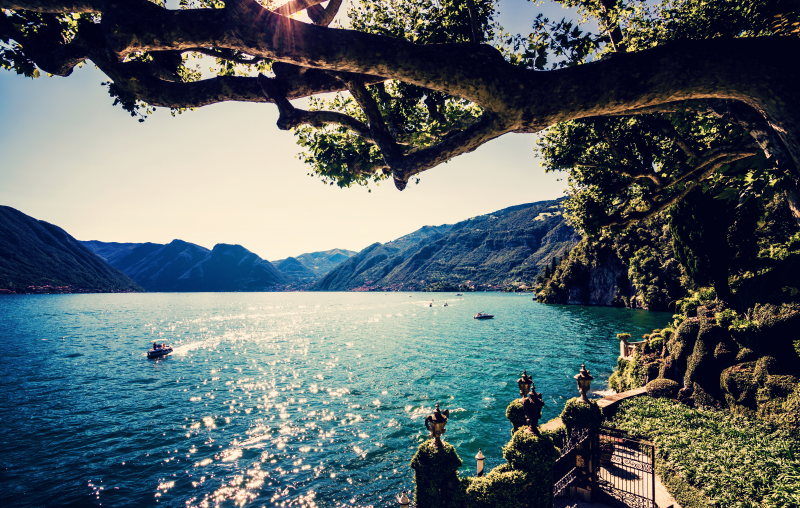 Nature art - Lake Como