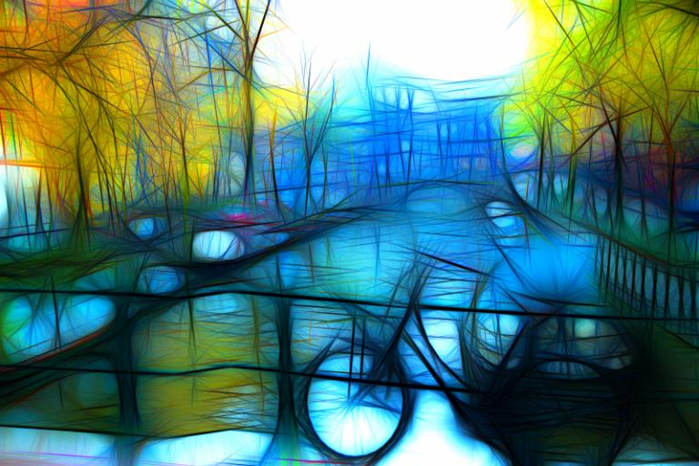Urban art - Blue Amsterdam