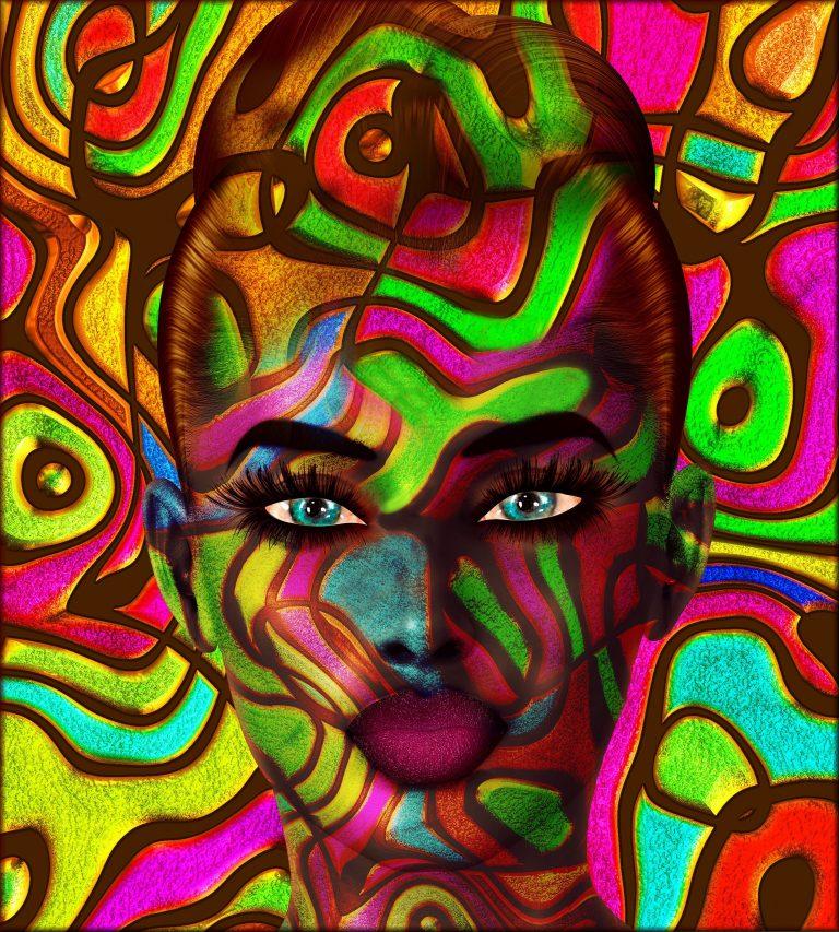 Abstract art - Modern Blue Eyes