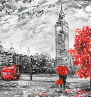 Abstract art - London Drawing