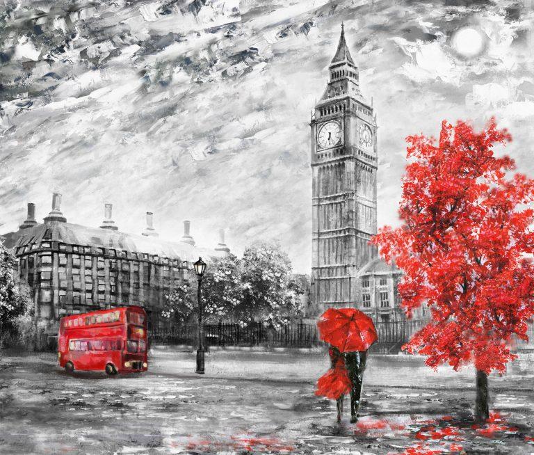 Abstract art - London Drawing